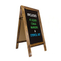 "Rustic Magnetic A-Frame Sign Large 40"" x 20"" Free Standing Sturdy Sandwich Board Outdoor A Frame ChalkBoard for Wedding"