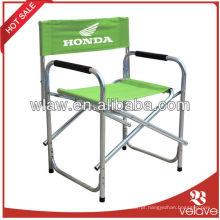 Cadeira de dobramento portátil colorida dos diretores de dobramento de ALU