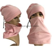 Rosa 100% poliéster 210gram Fleece Homens Mulheres Outdoor Sport Neck Warmer