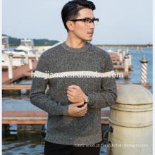 Fio de caxemira tricô Suéter de homem Serviço de OEM
