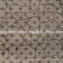 Cuir de modèle de décoration de mode en cuir (QDL-51383)