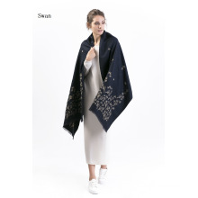 Fashion 50%Polyester 50%Viscose Embroidery Scarf