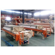 Filter press for sludge dewatering machine