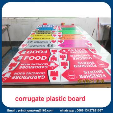 Placas de placas de plástico ondulado Sinais