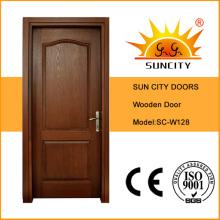 Diseños indios de la puerta principal de la madera contrachapada de la teca de la alta calidad (SC-S128)