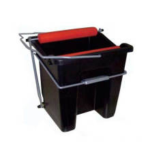 Plastic mop bucket trolley with wringer