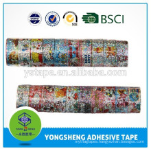Stationery tape with different patterns used for school and office