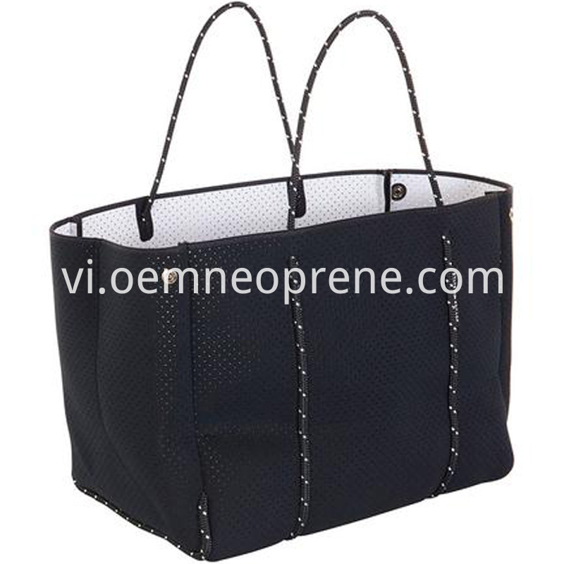 black beach tote bag