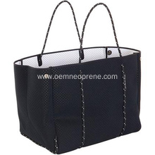 Black beach tote bag for beach travel