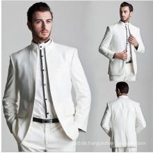 Formales Kleid maßgeschneiderte Männer Anzug 2017 neue Design weiße Männer Anzug