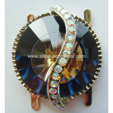 Unique Alloy Shoe Buckles With Rhinestone