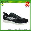 Hochwertige schwarze Fitness atmungsaktive Schuhe Männer Sportschuhe