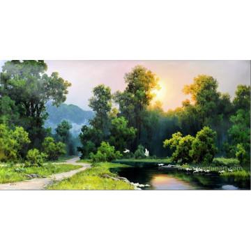 Qualitäts-Wand-Dekoration Chinesische Landschaftsmalerei auf Segeltuch (ETL-127)