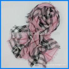 Custom made plaid nursing scarf polyester