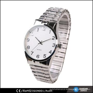 Vogue de cuarzo de Japón relojes hombres, reloj de correa elástica