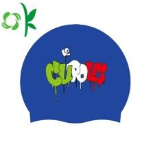 Cool Silicone Swim Head Caps Custom Pattern Cap