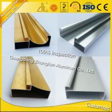 Gabinetes de cocina de la fuente de la fábrica Perfil de aluminio para Furiture