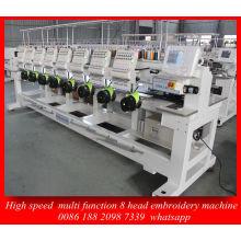 Mejor Control de Dahao sistema 8 cabeza equipo bordado máquina de alta velocidad para máquina de Emberoidery la ropa tapa