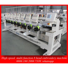 Best Dahao Control System 8 Head High Speed Computer Embroidery Machine for Cap Garment Emberoidery Machine