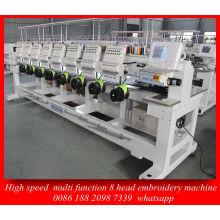 Melhor controle Dahao sistema 8 cabeça alta velocidade computador máquina do bordado para máquina de Emberoidery do tampão do vestuário