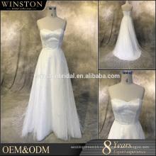 Производители OEM V шеи свадебные платья королевский или собора поезда