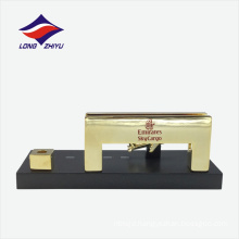 Exhibition craft pen holder office set metal name card holder