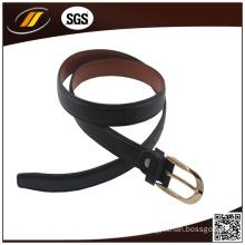 2015 Black Soft Genuine Leather Belt for Men