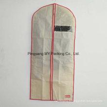 Non tissé Voir à travers un sac de vêtement de vêtement non toxique avec fermeture à glissière pour la promotion