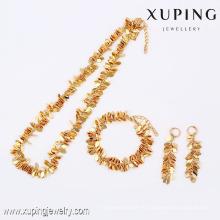 63795- Xuping venta caliente chapado en oro conjunto de joyas de moda para mujeres