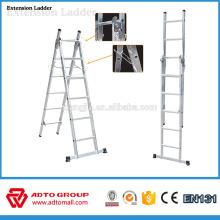 Échelle d'extension en aluminium, échelle pliante en aluminium, échelles d'extension en aluminium de 6m