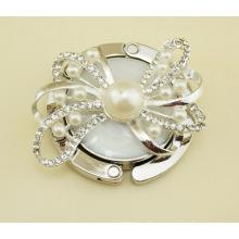 Pearl Round Foldable Handbag Hook
