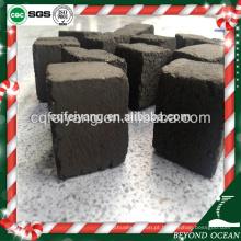 Quadrado preto 25mm carvão de shisha de coco para salão de narguilé