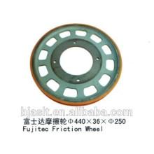 Roda de fricção de escada rolante para peças de escada rolante
