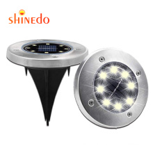 8 LED Solar Ground Lights Outdoor Light with Light Sensor for Lawn,Pathway,Yard,Driveway,Step and Walkway