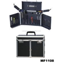Aluminium-Friseur tragen Fällen mit 2 Schubladen im Inneren