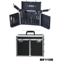 aluminum hairdressing carry cases with 2 trays inside