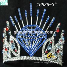 Art und Weise Brautkronen-Großhandels-Festzug-Kronen und schöne geführte Krone