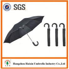 Prix pas chers! Usine d'alimentation 2 pliants parapluies avec poignée Crooked