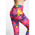 Le donne 3/4 ritagliate fitness leggings collant sport