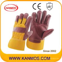 Кожаная мебель Кожаная рабочая ручная безопасность Промышленные перчатки (310071)