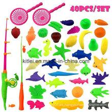 Juguetes de plástico de plástico a prueba de agua de juguete al aire libre juego de pesca de la diversión