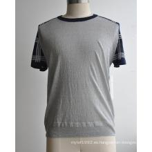 Suéter de manga corta de hombre de moda de verano