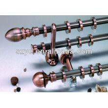 Prismatic design antique copper color aluminium curtain rod