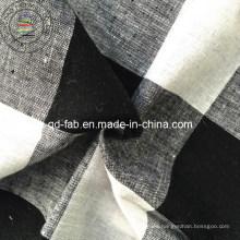 Lino / hilo de algodón Teñido de tela (QF13-0760)