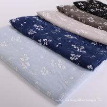 Premium shimmer gold line fashion women muslim Printed premium cotton embroidered hijab