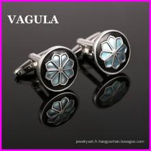 VAGULA qualité fleur gros boutons de manchettes (HL10141)