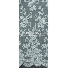 Factory Fashion Wholesales Bridal Chantilly French Lace Fabric CJ021C4B