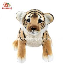 Juguete suave de alta calidad del modelo del tigre de la tela de los wollens