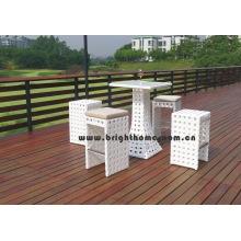 Muebles de jardín Silla de ratán Tabe Bar Set