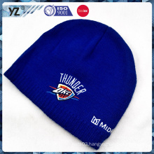 embroidery royal fluffy knitted hat